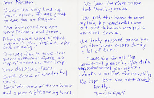 Deaf cruise danube river cruise deaf cruises deaf weddings deaf appreciation letter from my clients yadclub Image collections